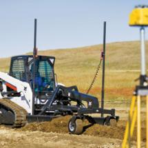 Bobcat Co. and Trimble have teamed up to improve receivers for laser-guided grading with Bobcat box-blade or grader attachments