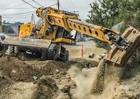 Gradall on/off pavement excavators