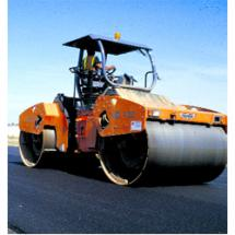 HD 130 HV double-drum articulated machine