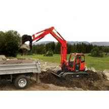 The KX080-3, Kubota's first 8-ton utility-class excavator