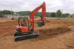 Kubota's most impressive excavators, the KX161-3