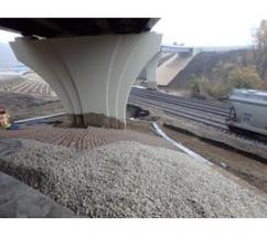 Geoweb bridge abutment stabilization