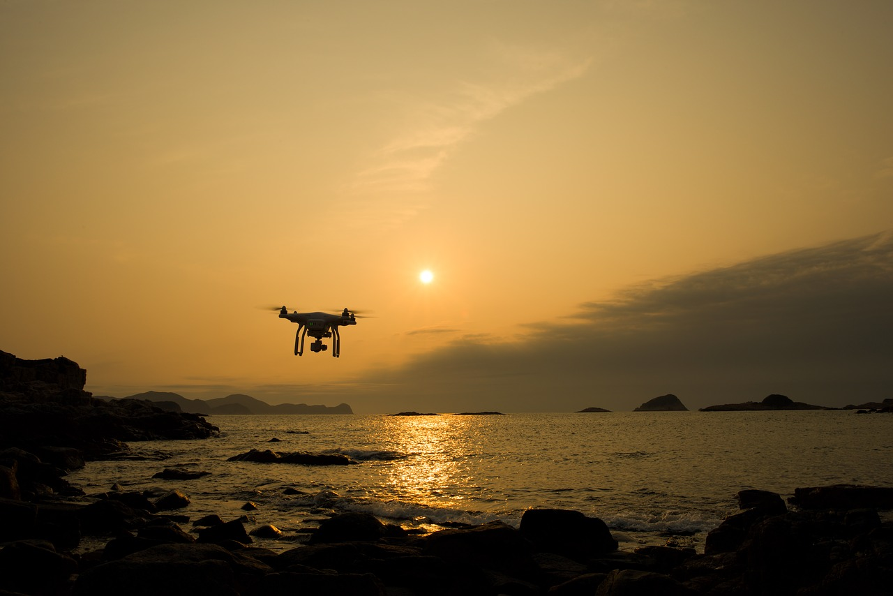 Scientists use drone to monitor floodwaters