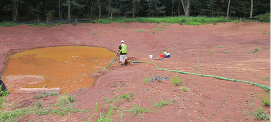 Dewatering Discharge Sediment Tank May 2014 New Jersey Rutgers Aqualete
