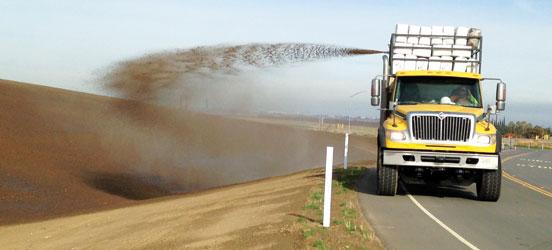 Erosion Control Caltrans California San Joaquin County Earth Organic Industries