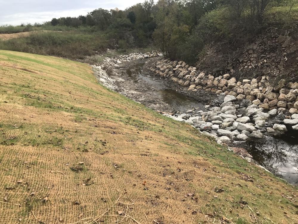 Texas university handles erosion with LID