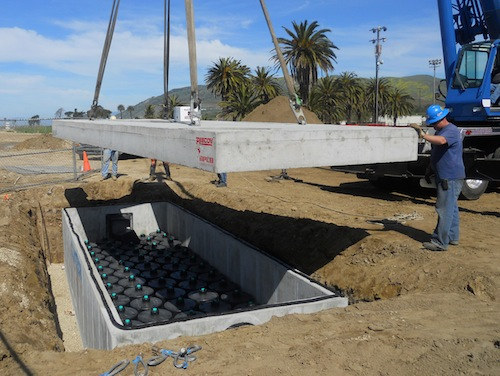 Sustainable solution offers flood control and water quality improvement for a popular beach spot