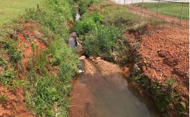 The ditch had consistently been a maintenance issue