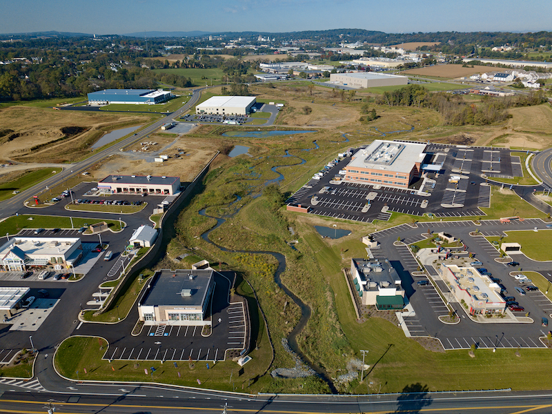 Ecological approach maximizes developable area on mixed-use property