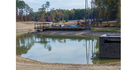Duke University water harvesting reuse pond climate action plan