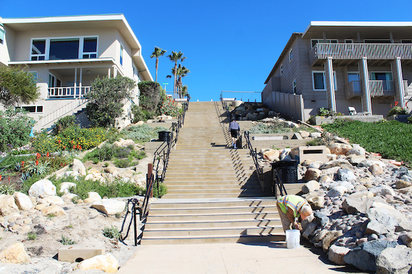 Ocean Street beach access in Carlsbad, Calif.