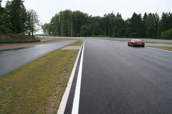 drainage system at race track