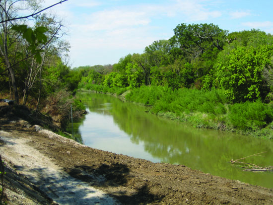 erosion control, dallas, river