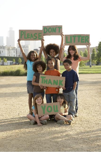 public outreach, kids, litter