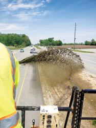 hydroseeding, erosion control, vegetation, Indiana DOT