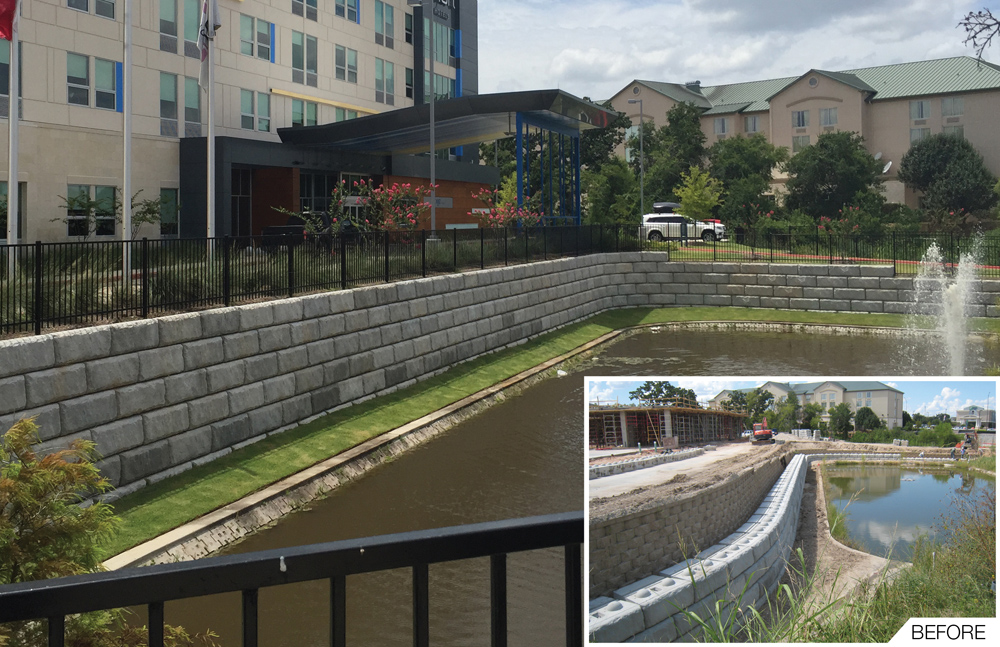 Gravity Wall Overcomes Site Setback