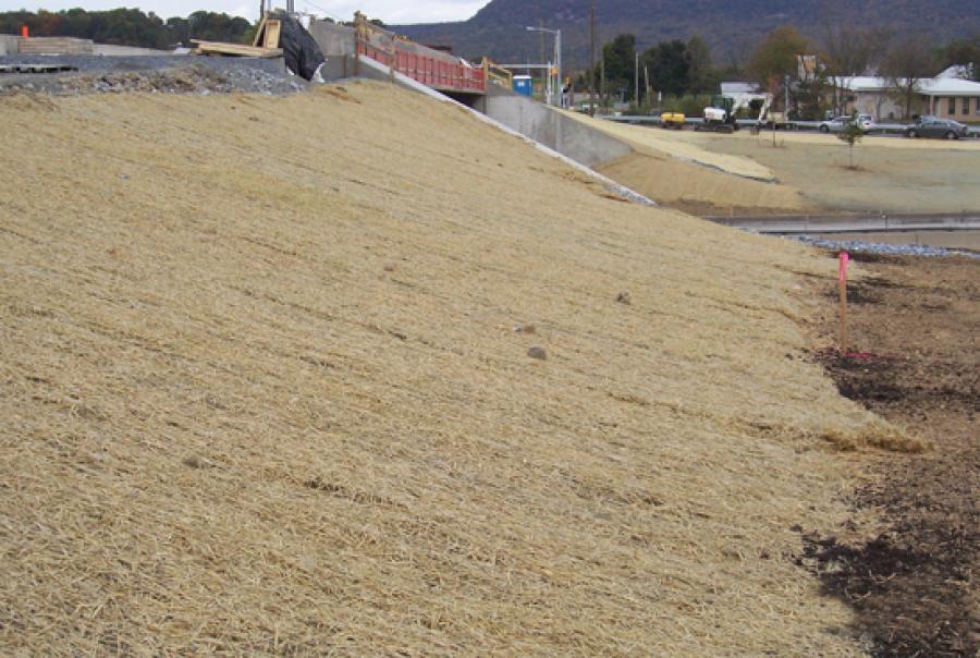 erosion control blanket, erosion control, erosion control straw