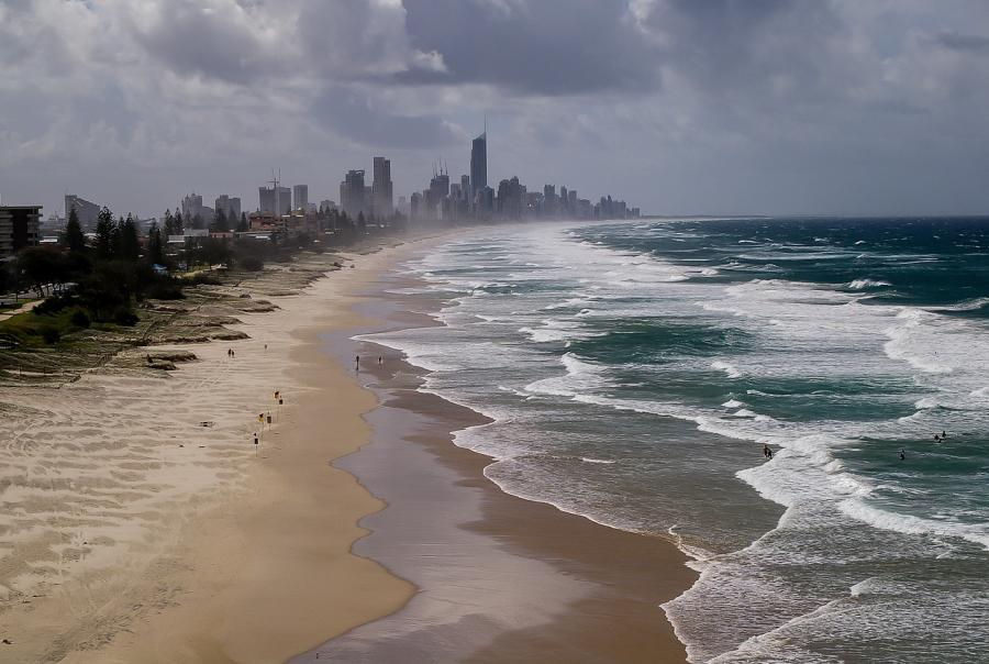 Gold Coast implements erosion control barrier
