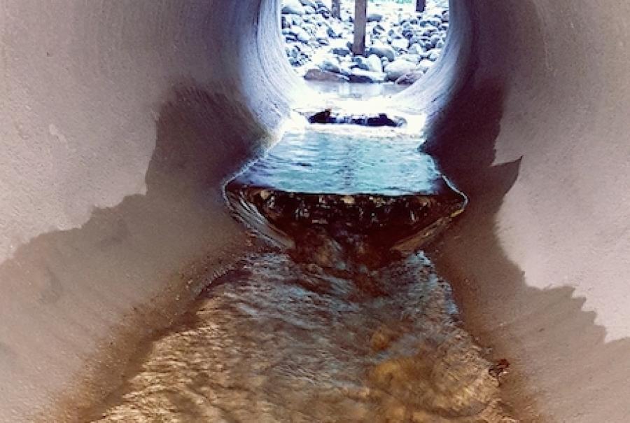 South Karori storm water culvert after GeoSpray application