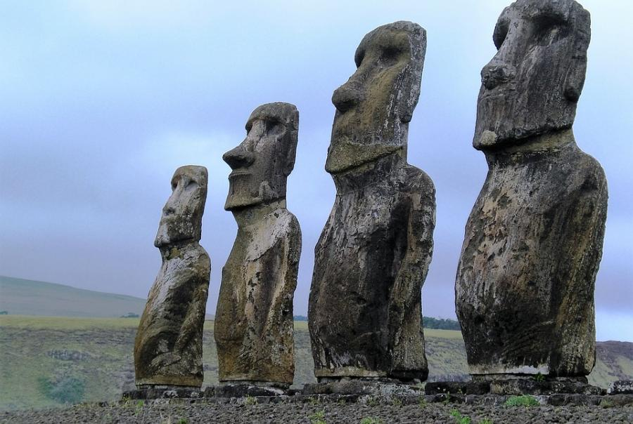 Erosion threatens Easter Island statues