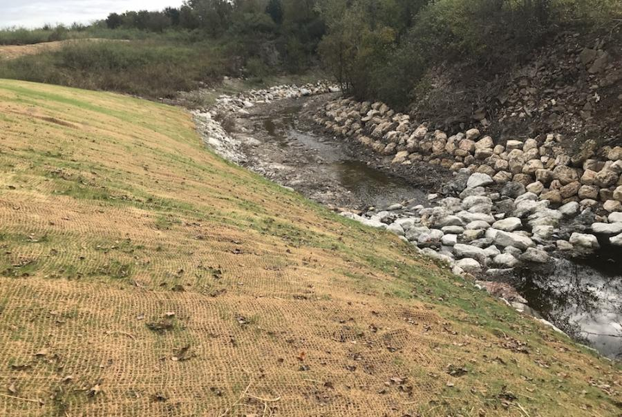 Texas university handles erosion with LID