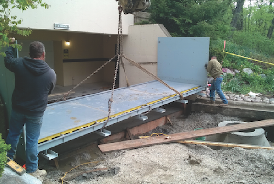 The first phase involved installing the storm underdrains and floodgate.