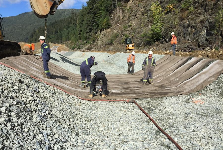 Canadian Mine Relines Ditch to Manage Storm Flows