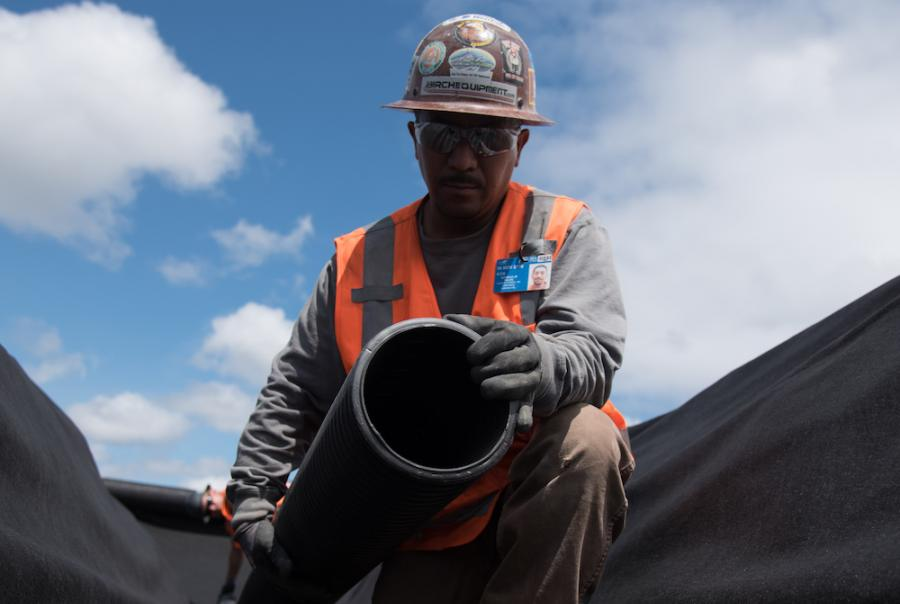 The final system can handle a 24-hour, 100-year storm using approximately 3 miles of pipe.