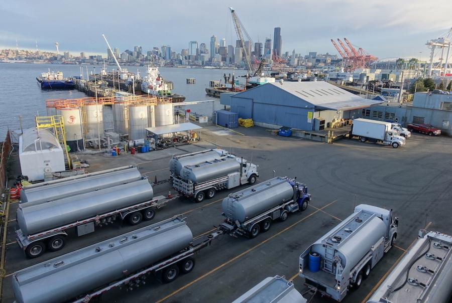 Petroleum facility treats storm water runoff with pressurized & adsorptive media