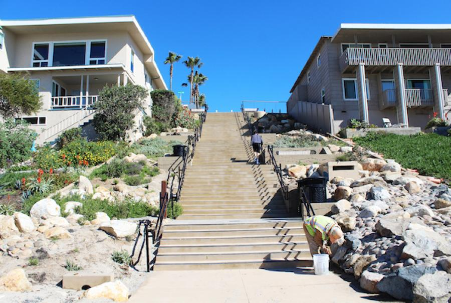 Ocean Street beach access in Carlsbad, Calif.