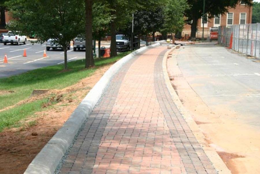 Pine Hall brick, permeable paver, Wake Forest