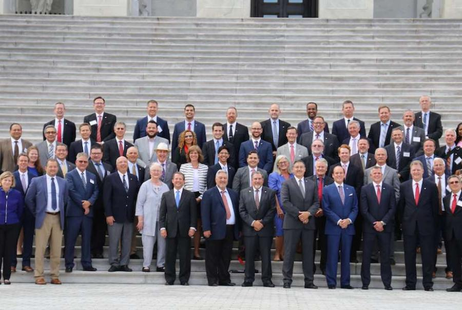 members of the plastic pipe institute meet with congress