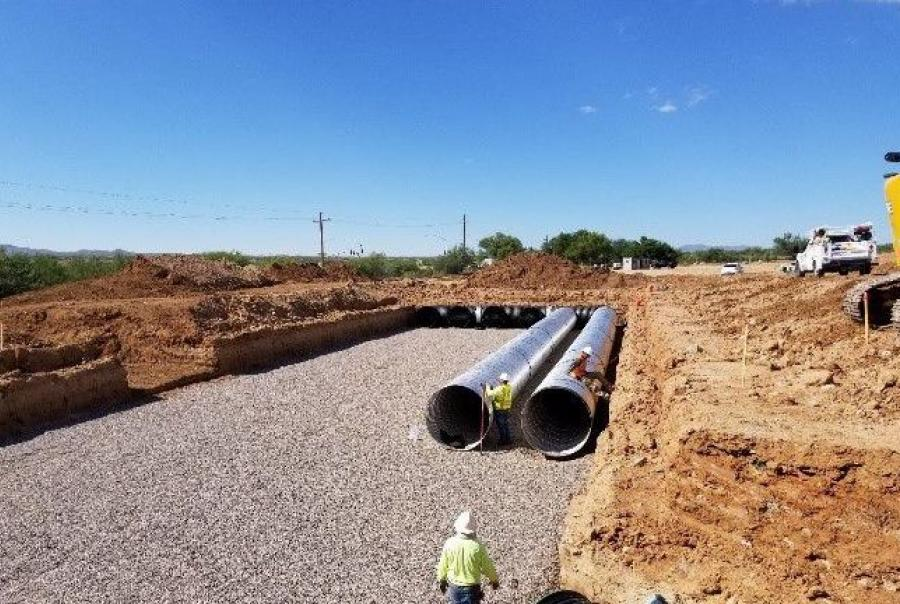 Shopping Center Installs Storm Water Runoff System