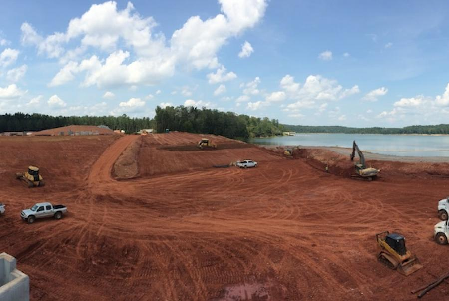 Engineered earth armoring improves spillway & weir in Alabama