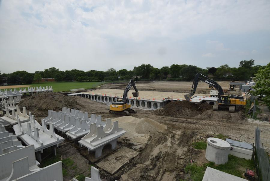 storm water storage facility in Northbrook, Ill