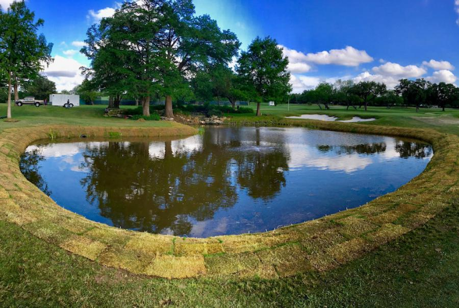 Golf course implements shoreline stabilization & sediment control measures