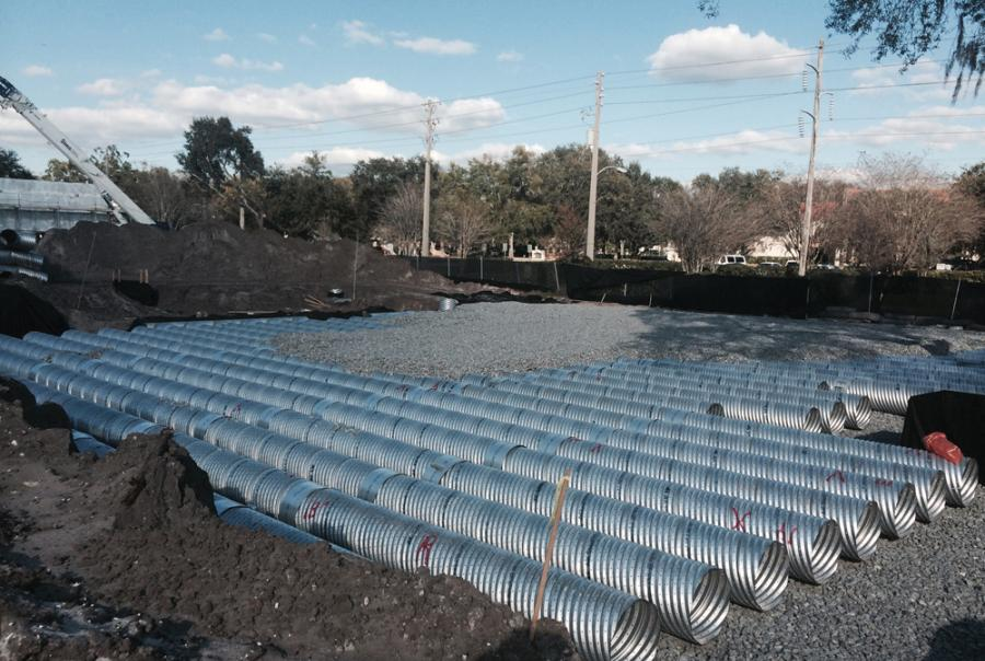 Corrugated Steel Pipe Project Provides Storm Water Infiltration