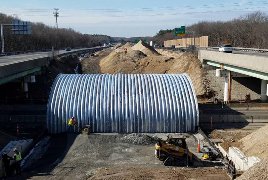 Corrugated steel structure helps Massachusetts project meet goals