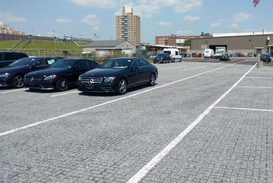 Brooklyn, N.Y., auto dealership installs permeable paving system