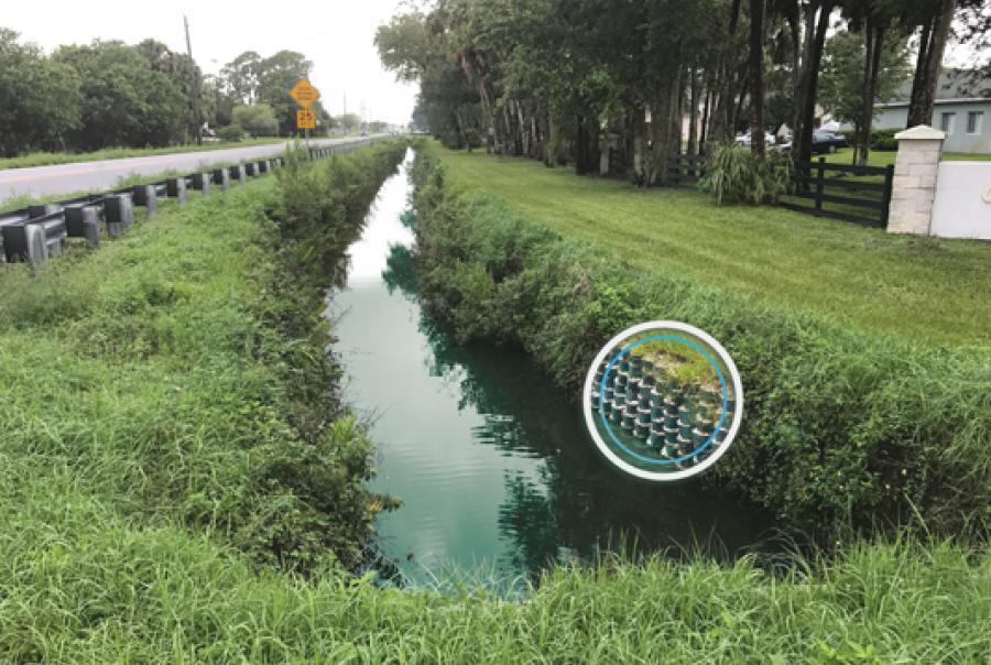 Vegetated Geocellular Channels Shore Up Embankments, Mitigate Flooding