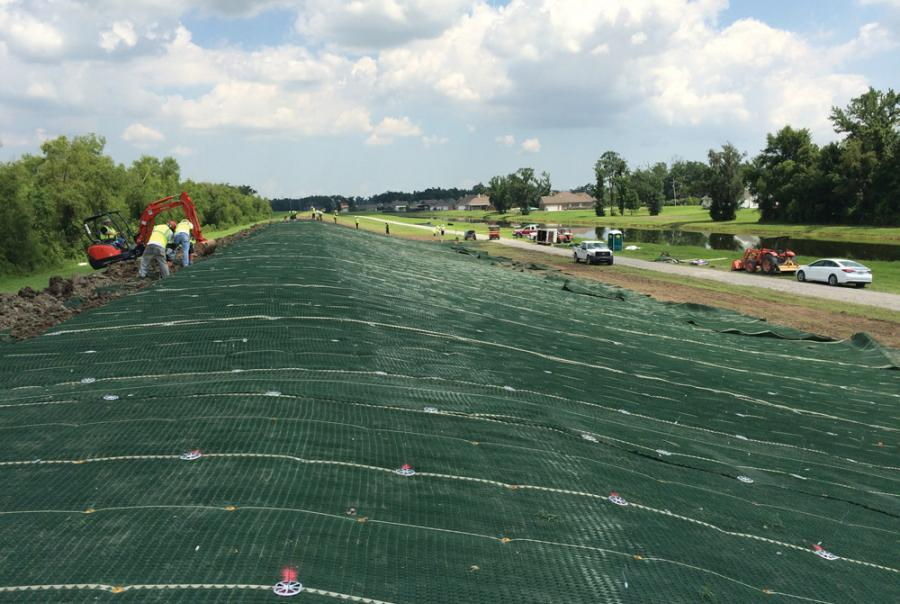 U.S. Army Corps of Engineers Uses Turf Reinforcement Mat to Rebuild Levees