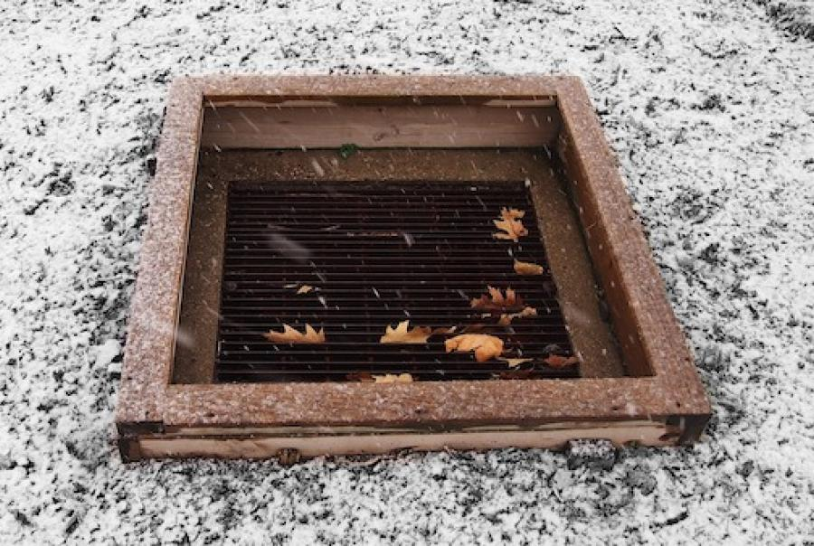 A stenciling event in Maine aims to raise awareness & remind residents not to dump down the drain