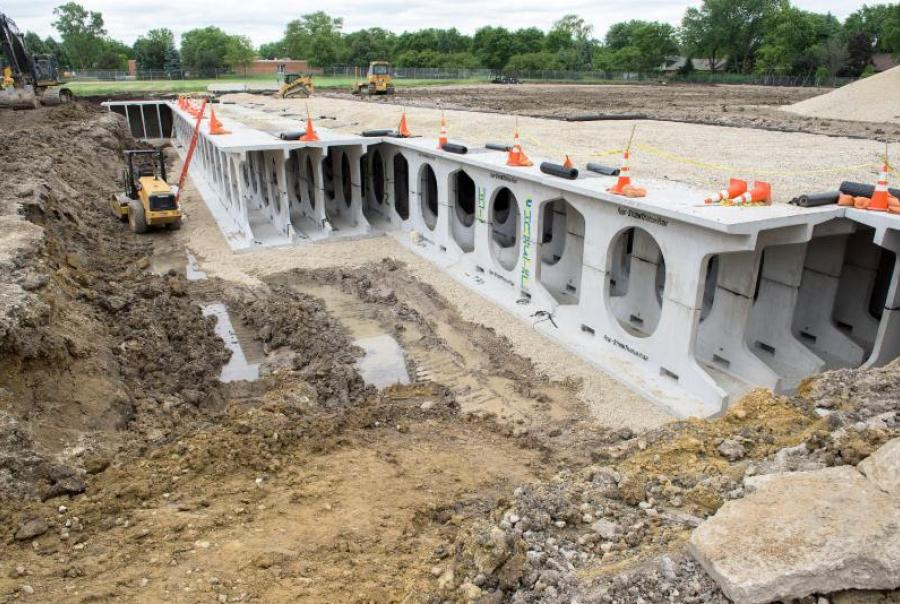 northbrook, mwrd, chicago, illinois, flood control, storm water, facility, park