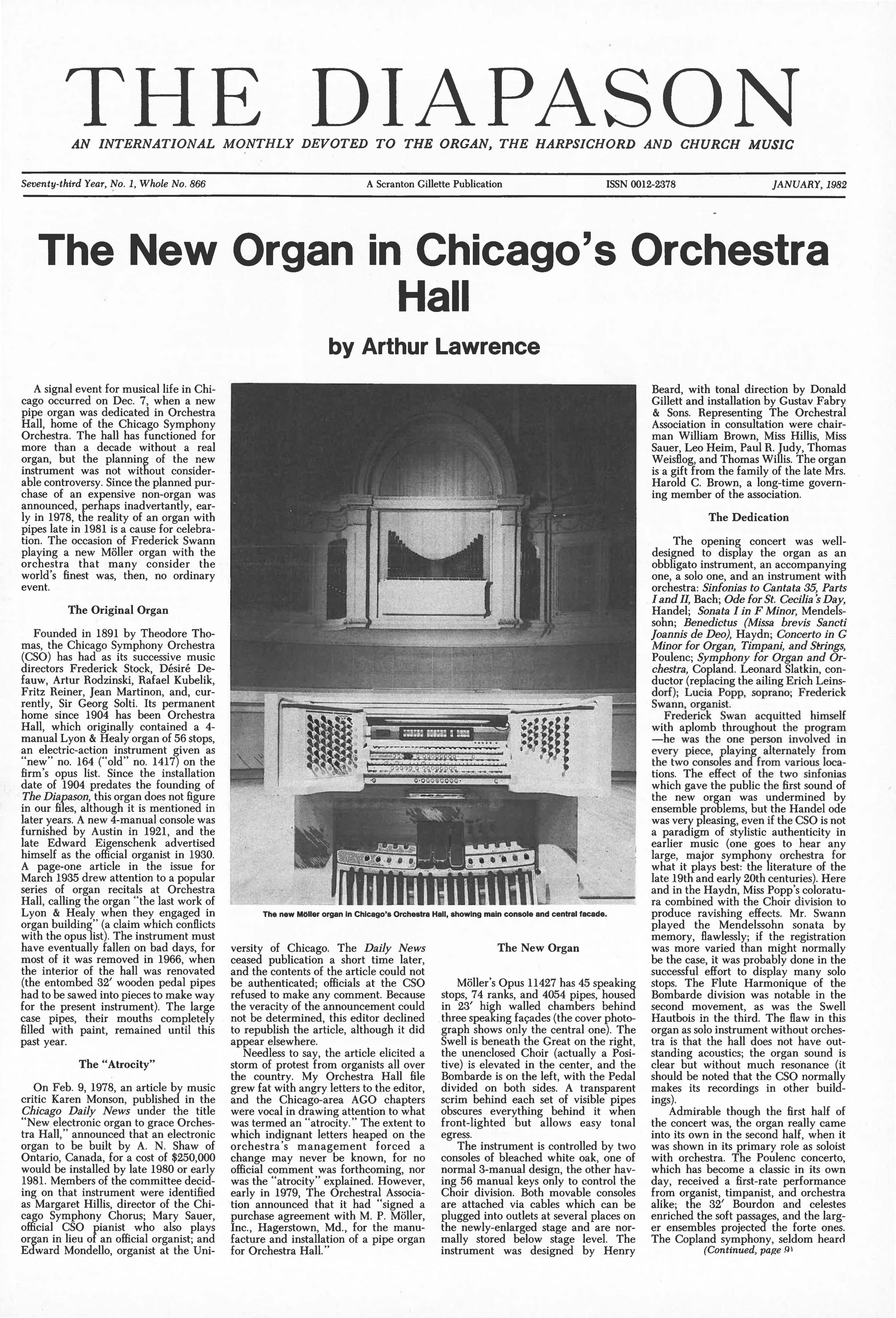 Magazine Archive | The Diapason