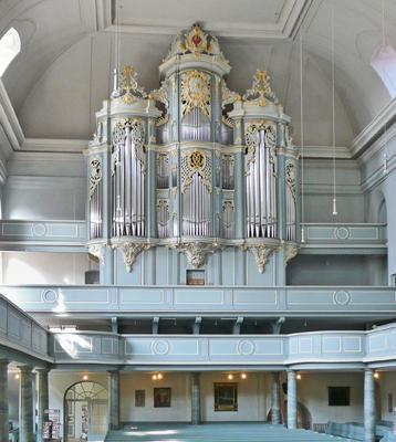 1739 Johann Christoph Wiegleb organ at St.  Gumbertus Church in Ansbach, Germany