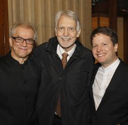 Osmo Vanska, John Harbison, and Paul Jacobs (photo credit: Tim Rummelhoff)