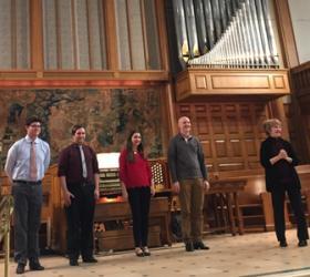 Andrew Segrest, Jordan DeRouen, Polina Golubkova, Alex Gilson, and Christina Harmon (photo credit: Masako Gaskin)