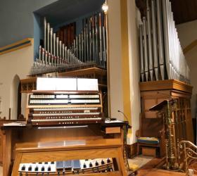 Rebuilt 1960 Casavant organ,Trinity Memorial Episcopal Church, Binghamton, New York