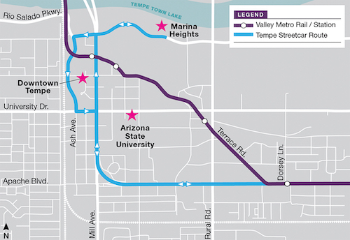 Streetcars to run off-wire for part of the route