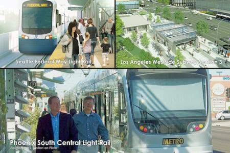 Seattle Federal Way Light Rail; Los Angeles Westside Subway Section 3; Phoenix South Central Light Rail
